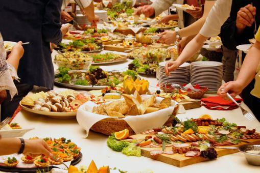 стол свадьба праздник еда